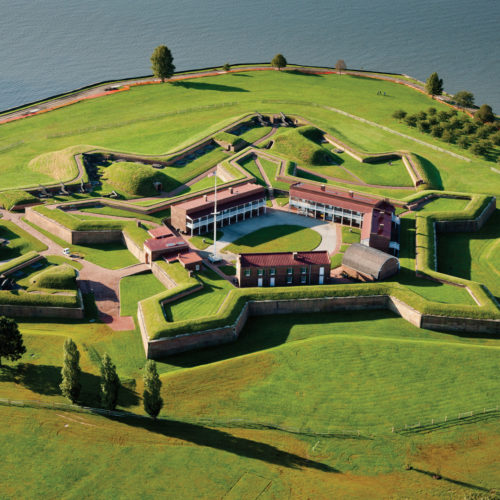 Aerial view of Fort McHenry National Monument and Historic Shrine.