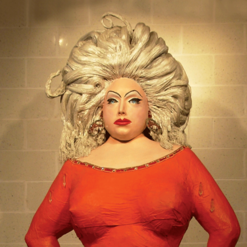 John Water's sculpture of Divine.