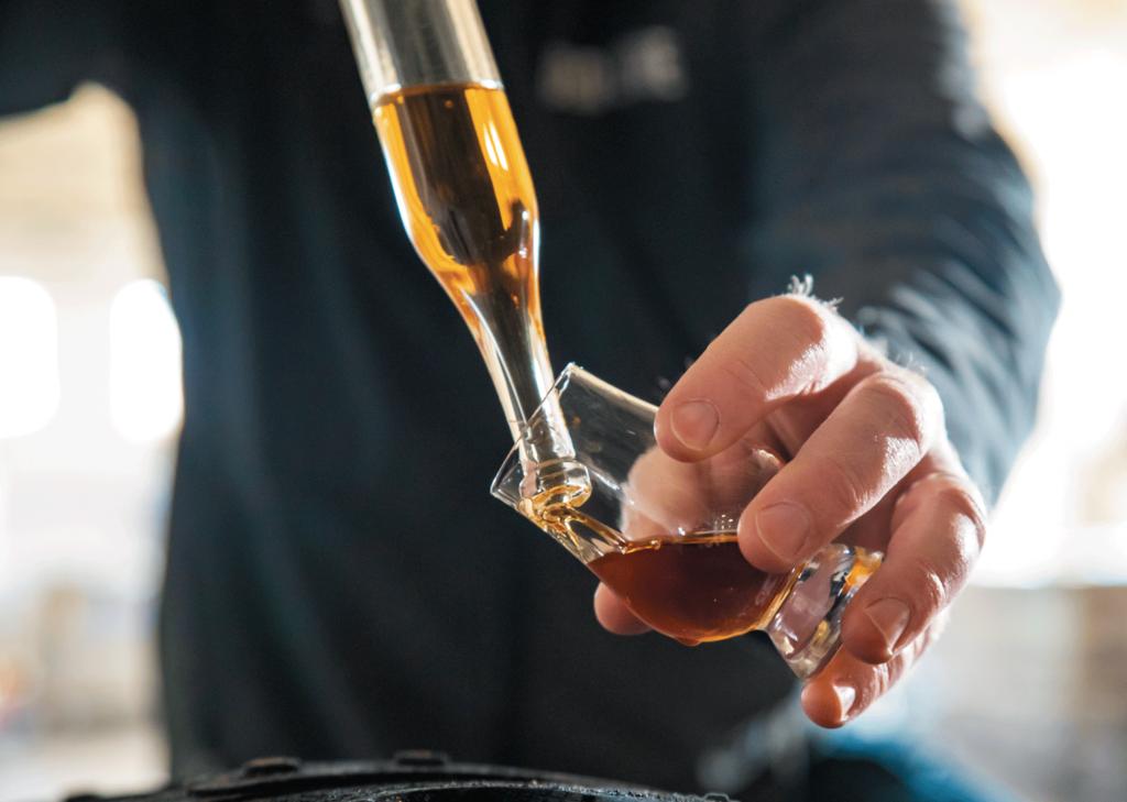 Product sampling at Old Line Distillery