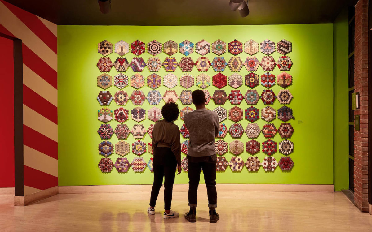 Two people view an art installation at The American Visionary Art Museum in Baltimore.