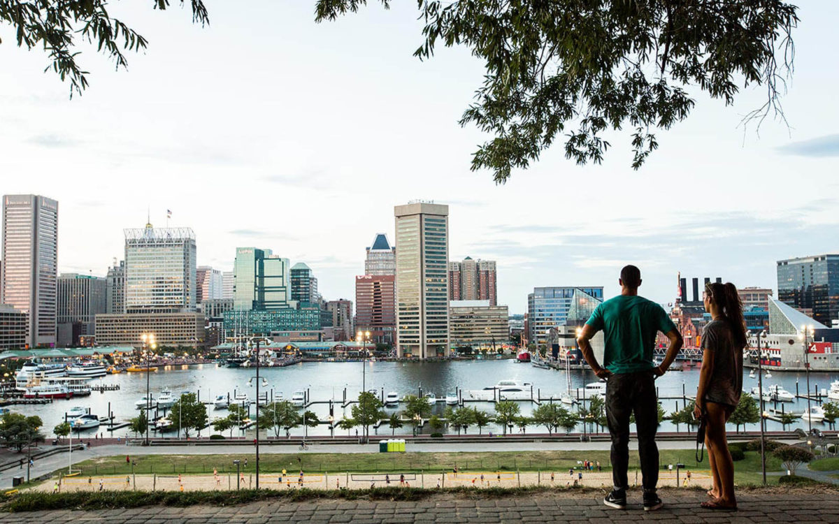 View of downtown Baltimore from Federal Hill.