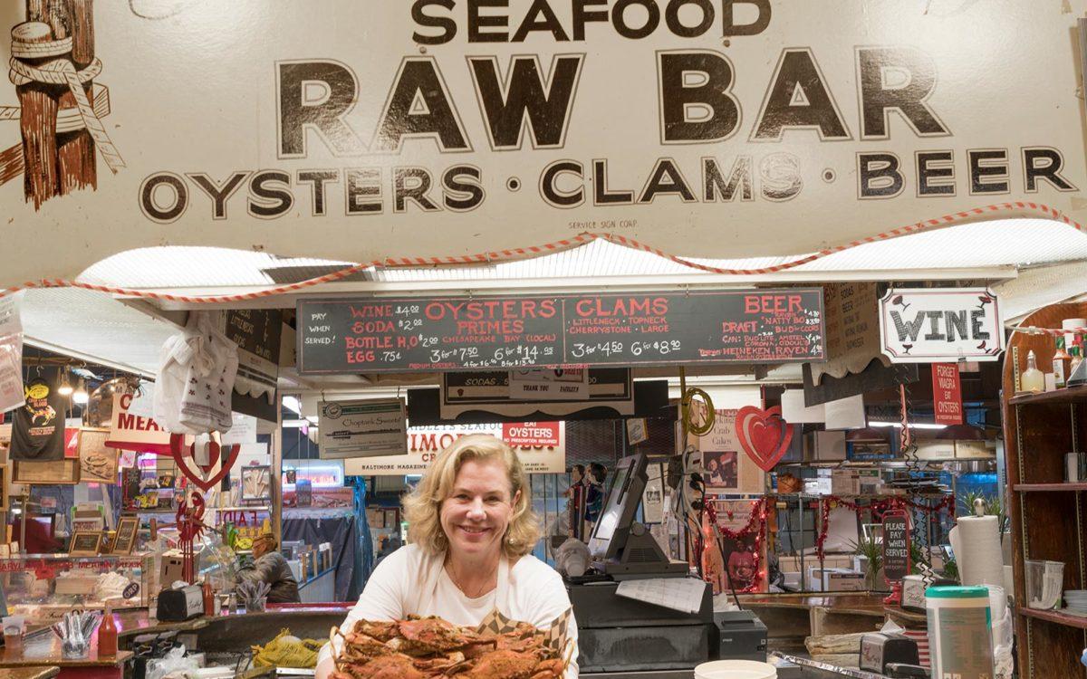 Nancy Faidley at Lexington Market.