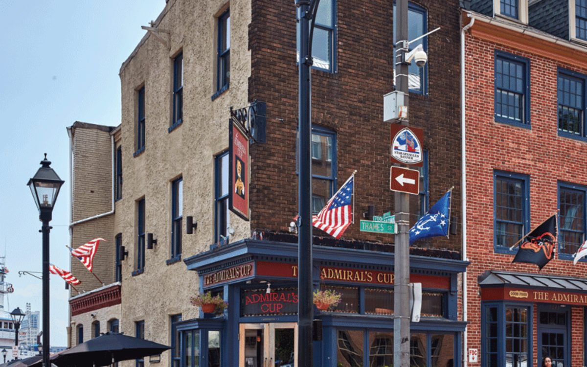 A view of a street in Fells Point, Baltimore.