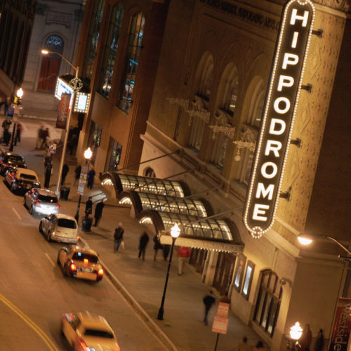 Exterior of the Hippodrome theater.