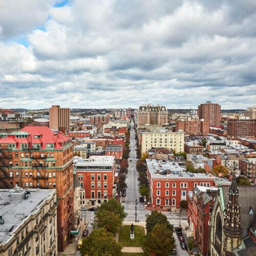 View of Baltimore's city skyline.