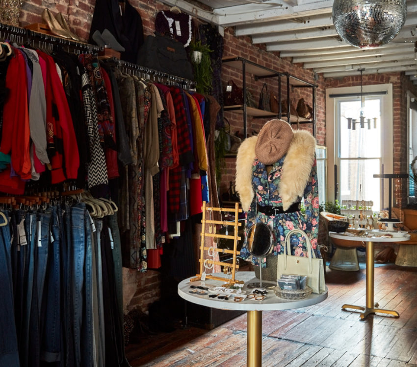 Vintage clothing and jewelry