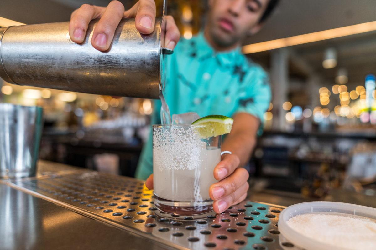 R. Bar Bartender making a Cocktail at R. Bar