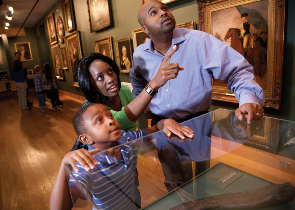A family at the The Maryland Historical Society.