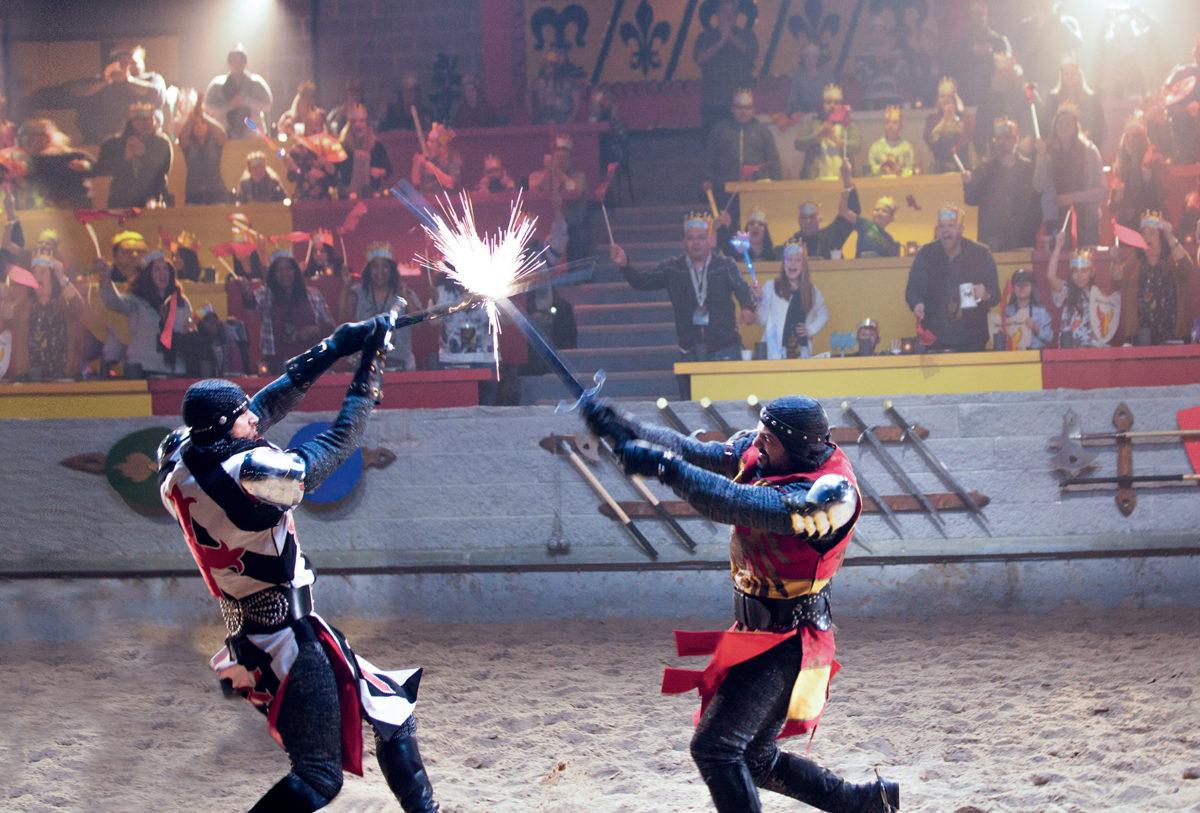 Knights sword fighting