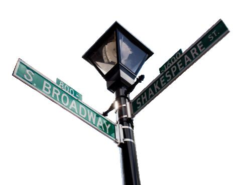 Streetlamp sign