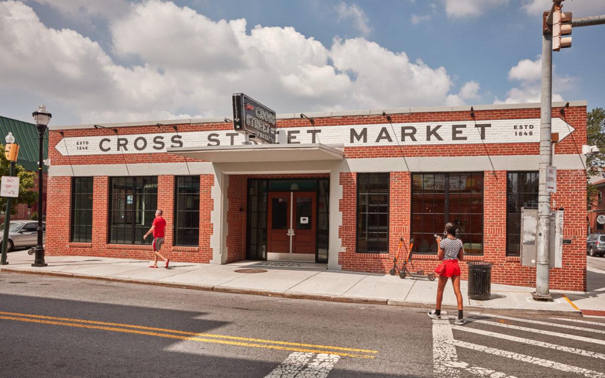 Exterior of Cross Street Market