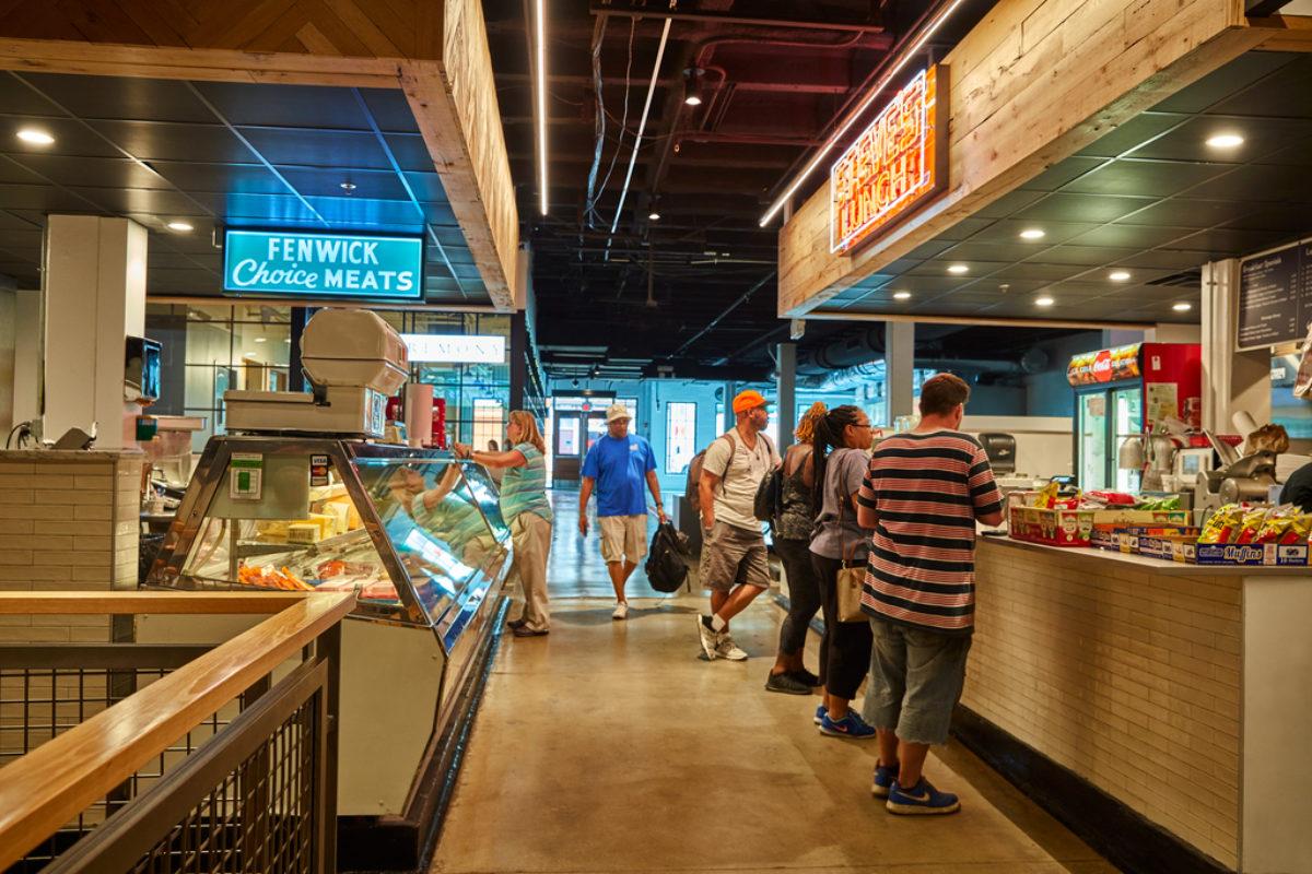 Interior of Cross Street Market