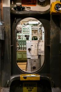 Interior of the Torsk submarine